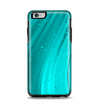 The Glowing Teal Abstract Waves Apple iPhone 6 Plus Otterbox Symmetry Case Skin Set