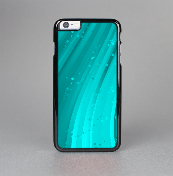 The Glowing Teal Abstract Waves Skin-Sert Case for the Apple iPhone 6 Plus