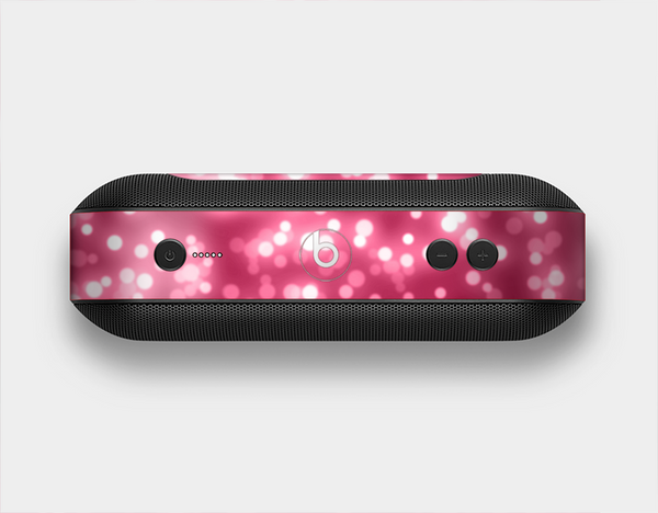 The Glowing Unfocused Pink Circles Skin Set for the Beats Pill Plus