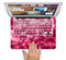"The Glowing Unfocused Pink Circles Skin Set for the Apple MacBook Pro 15"" with Retina Display"