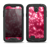 The Glowing Unfocused Pink Circles Samsung Galaxy S4 LifeProof Fre Case Skin Set