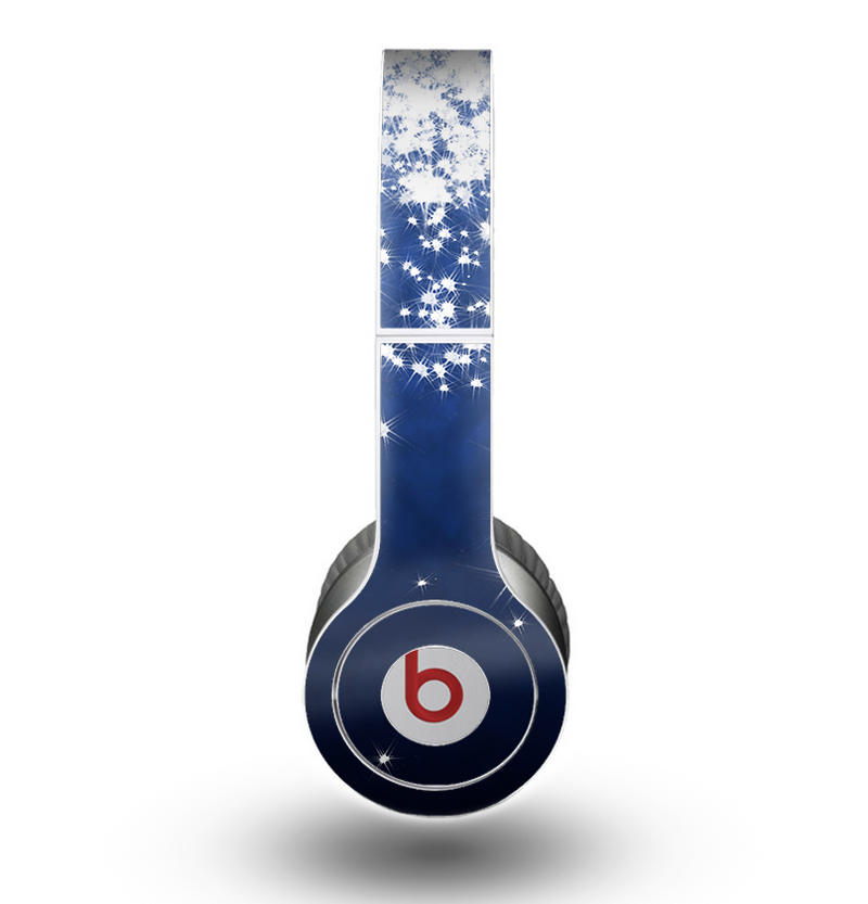The Glowing White SnowFlakes Skin for the Beats by Dre Original Solo-Solo HD Headphones