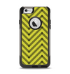 The Gold & Black Sketch Chevron Apple iPhone 6 Otterbox Commuter Case Skin Set