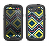 The Gold & Black Vector Plaid Samsung Galaxy S4 LifeProof Fre Case Skin Set