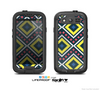 The Gold & Black Vector Plaid Skin For The Samsung Galaxy S3 LifeProof Case