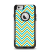 The Gold & Blue Sharp Chevron Pattern Apple iPhone 6 Otterbox Commuter Case Skin Set