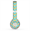 The Gold & Blue Sharp Chevron Pattern Skin for the Beats by Dre Solo 2 Headphones