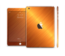 The Gold Brushed Aluminum Surface Full Body Skin Set for the Apple iPad Mini 3