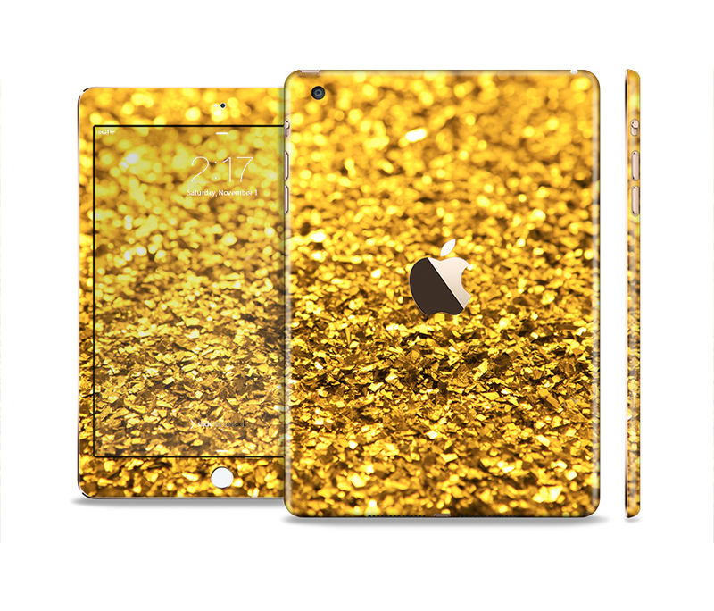 The Gold Glimmer Full Body Skin Set for the Apple iPad Mini 3
