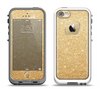 The Gold Glitter Ultra Metallic Apple iPhone 5-5s LifeProof Fre Case Skin Set