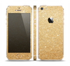 The Gold Glitter Ultra Metallic Skin Set for the Apple iPhone 5s