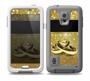 The Gold Glitter with Intertwined Rings copy Skin for the Samsung Galaxy S5 frē LifeProof Case