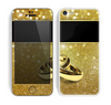The Gold Glitter with Intertwined Rings copy Skin for the Apple iPhone 5c
