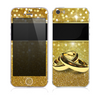 The Gold Glitter with Intertwined Rings copy Skin for the Apple iPhone 5s