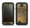 The Gold Hearts and Confetti Pattern Samsung Galaxy S4 LifeProof Fre Case Skin Set
