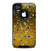 The Gold Hearts and Confetti Pattern Skin for the iPhone 4-4s OtterBox Commuter Case