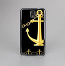 The Gold Linking Chain Anchor Skin-Sert Case for the Samsung Galaxy Note 3