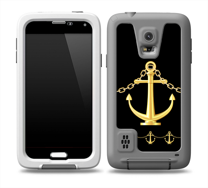 The Gold Linking Chain Anchor Skin for the Samsung Galaxy S5 frē LifeProof Case