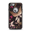 The Gold & Pink Abstract Vector Butterflies Apple iPhone 6 Otterbox Defender Case Skin Set