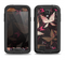 The Gold & Pink Abstract Vector Butterflies Samsung Galaxy S4 LifeProof Nuud Case Skin Set