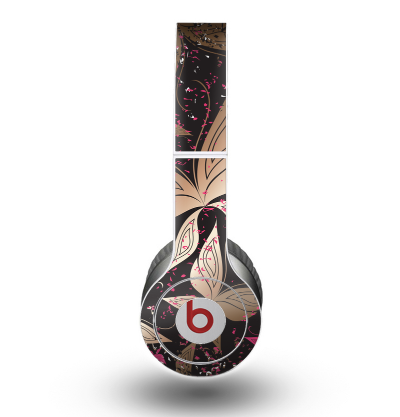 The Gold & Pink Abstract Vector Butterflies Skin for the Beats by Dre Original Solo-Solo HD Headphones