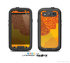 The Gold & Red Abstract Seamless Pattern Skin For The Samsung Galaxy S3 LifeProof Case