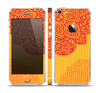 The Gold & Red Abstract Seamless Pattern Skin Set for the Apple iPhone 5