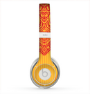 The Gold & Red Abstract Seamless Pattern Skin for the Beats by Dre Solo 2 Headphones