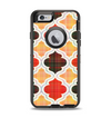 The Gold & Red Abstract Seamless Pattern V5 Apple iPhone 6 Otterbox Defender Case Skin Set