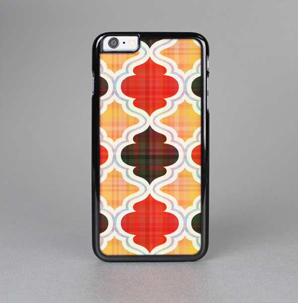 The Gold & Red Abstract Seamless Pattern V5 Skin-Sert Case for the Apple iPhone 6 Plus