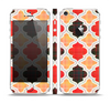 The Gold & Red Abstract Seamless Pattern V5 Skin Set for the Apple iPhone 5
