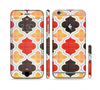 The Gold & Red Abstract Seamless Pattern V5 Sectioned Skin Series for the Apple iPhone 6