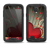 The Gold Ribbon Love Hearts Samsung Galaxy S4 LifeProof Fre Case Skin Set