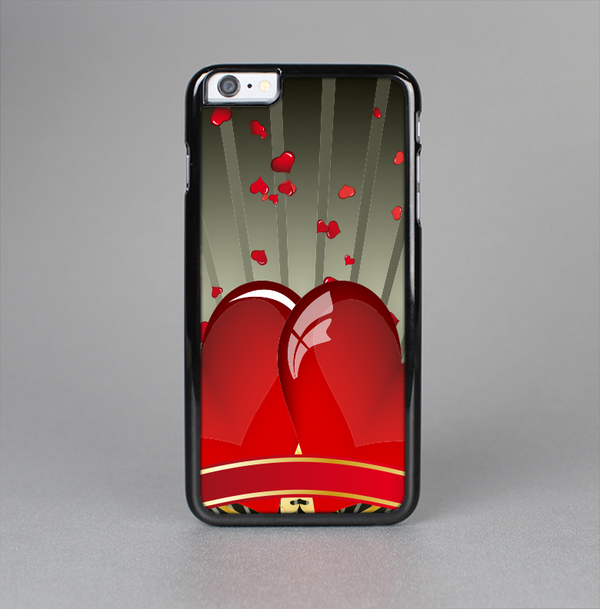 The Gold Ribbon Love Hearts Skin-Sert Case for the Apple iPhone 6 Plus