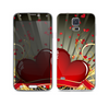 The Gold Ribbon Love Hearts Skin For the Samsung Galaxy S5