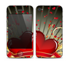 The Gold Ribbon Love Hearts Skin for the Apple iPhone 4-4s