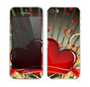 The Gold Ribbon Love Hearts Skin for the Apple iPhone 5s
