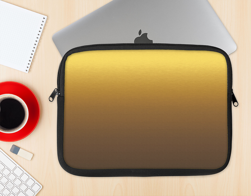 The Gold Shimmer Surface Ink-Fuzed NeoPrene MacBook Laptop Sleeve
