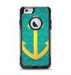 The Gold Stretched Anchor with Green Background Apple iPhone 6 Otterbox Commuter Case Skin Set