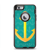 The Gold Stretched Anchor with Green Background Apple iPhone 6 Otterbox Defender Case Skin Set
