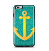 The Gold Stretched Anchor with Green Background Apple iPhone 6 Plus Otterbox Symmetry Case Skin Set