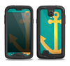 The Gold Stretched Anchor with Green Background Samsung Galaxy S4 LifeProof Fre Case Skin Set