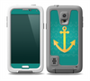 The Gold Stretched Anchor with Green Background Skin Samsung Galaxy S5 frē LifeProof Case