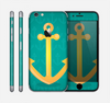 The Gold Stretched Anchor with Green Background Skin for the Apple iPhone 6