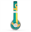 The Gold Stretched Anchor with Green Background Skin for the Beats by Dre Solo 2 Headphones