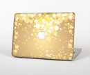 "The Gold Unfocused Sparkles Skin Set for the Apple MacBook Pro 15"" with Retina Display"