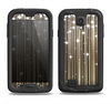 The Gold & White Shimmer Strips Samsung Galaxy S4 LifeProof Fre Case Skin Set