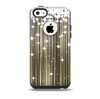 The Gold & White Shimmer Strips Skin for the iPhone 5c OtterBox Commuter Case