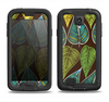 The Gold & Yellow Seamless Leaves Illustration Samsung Galaxy S4 LifeProof Fre Case Skin Set