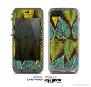 The Gold & Yellow Seamless Leaves Illustration Skin for the Apple iPhone 5c LifeProof Case